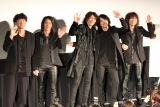 映画『オトトキ』の上映後舞台挨拶に出席した(左から)松永大司監督、菊地英二、吉井和哉、菊地英昭、廣瀬洋一 (C)ORICON NewS inc.