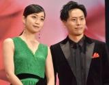 『第30回東京国際映画祭』のオープニングイベントに登場した(左から)深川麻衣、山下健二郎 (C)ORICON NewS inc.
