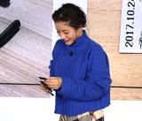乗車券をはさみで切る・入鋏(にゅうきょう)体験をした石原さとみ=東京メトロ『TOKYO METRO 90 Days FES!』発表会 (C)ORICON NewS inc.