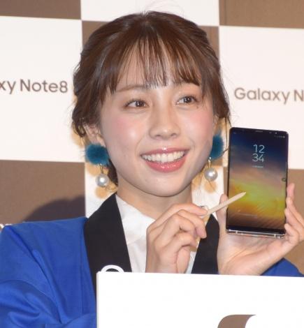 モバイル製品『Galaxy Note8』の発売記念イベントに参加した鈴木あきえ (C)ORICON NewS inc.