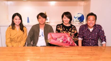 12月でテレビ東京を退社する大橋未歩アナウンサー(右から2人目)が『モヤモヤさまぁ〜ず2』に出演(放送日未定)。東京・下北沢の街をブラブラした(C)テレビ東京