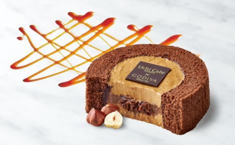 サムネイル 注目のコラボシリーズ第4弾『Uchi Cafe SWEETS×GOVIVA キャラメルショコラロールケーキ』