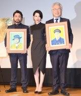 (左から)山田孝之、古賀陽子氏、イッセー尾形 (C)ORICON NewS inc.
