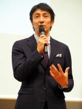 イベント『金メダルが語る!WHO I AMフォーラム with OPEN TOKYO』に出演した朝原宣治氏 (C)ORICON NewS inc.