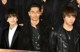 """映画『HiGH&LOW THE MOVIE 3/FINAL MISSION』""""超""""完成披露試写会に出席した(左から)岩田剛典、AKIRA、TAKAHIRO (C)ORICON NewS inc."""