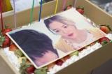 関西テレビ・フジテレビ系連続ドラマ『明日の約束』に出演する仲間由紀恵の誕生日ケーキ(C)関西テレビ