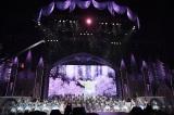フィナーレの「桜の花びらたち」=『渡辺麻友卒業コンサート〜みんなの夢が叶いますように〜』(C)AKS