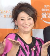 愛媛県観光プロモーション記者発表会に参加した友近 (C)ORICON NewS inc.