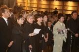 「瀬戸の花嫁」を合唱=作曲家・平尾昌晃さんの葬儀・告別式の模様