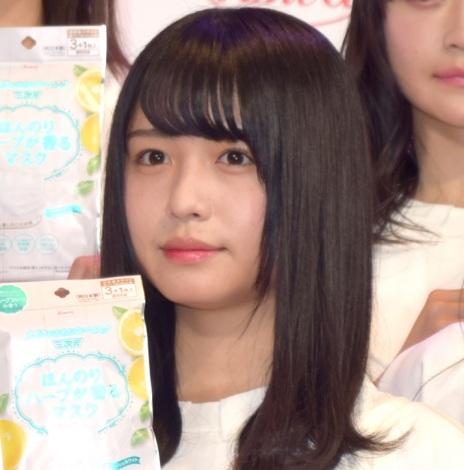 興和『三次元マスク』の新CM発表会に出席した欅坂46・長濱ねる (C)ORICON NewS inc.