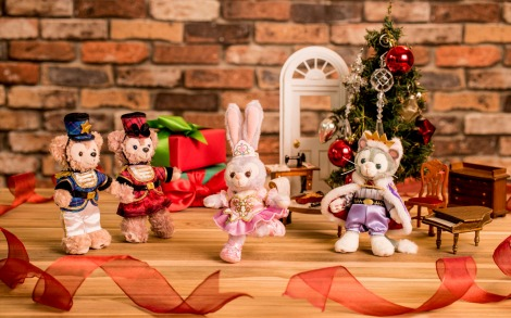 サムネイル ダッフィー&シェリーメイ&ステラ・ルー&ジェラトーニの2017年クリスマスは「くるみ割り人形」がモチーフ (c)Disney