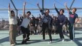 「満々満足!」ダンスを生披露した(左から)大久保佳代子、武井壮、草なぎ剛、稲垣吾郎、香取慎吾 (C)AbemaTV