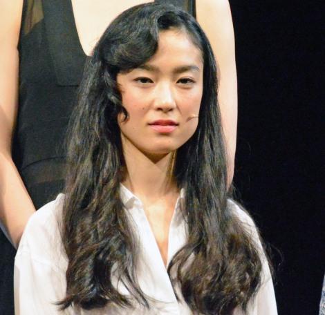 舞台『この熱き私の激情』開幕直前会見に出席した初音映莉子 (C)ORICON NewS inc.