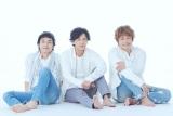 『72時間ホンネテレビ』に挑戦中の(左から)草なぎ剛、稲垣吾郎、香取慎吾(C)AbemaTV