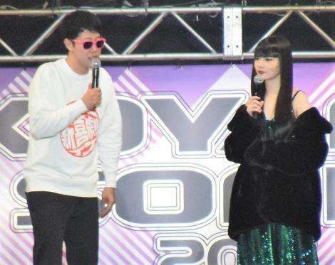 『KOYABU SONIC』に出演した(左から)小藪千豊、秋元梢 (C)ORICON NewS inc.