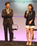 『アンチエイジングフェア in 台場』でトークショーを開催した石田純一(左)と東尾理子 (C)ORICON NewS inc.