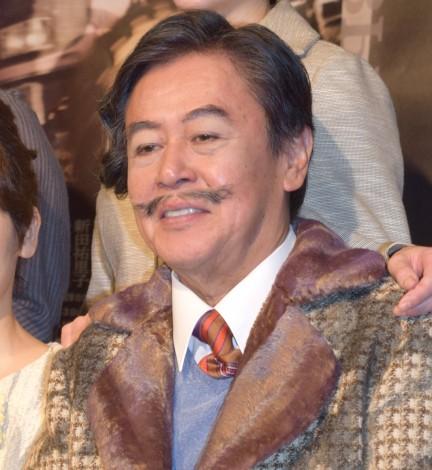 舞台『24番地の桜の園』初日公演前の記者会見に出席した風間杜夫 (C)ORICON NewS inc.