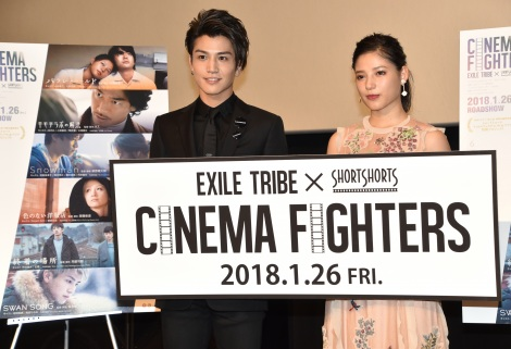 『CINEMA FIGHTERS』プレミア上映会に出席した(左から)岩田剛典、石井杏奈 (C)ORICON NewS inc.