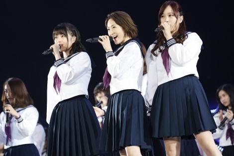 乃木坂46初期の顔「生生星」(左から)生田絵梨花、生駒里奈、星野みなみ