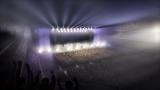 4階スタンドからみたコンサート中のイメージ=横浜みなとみらい21の38街区に2020年春開業予定の音楽アリーナ