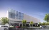 新アリーナの外観イメージ=横浜みなとみらい21の38街区に2020年春開業予定の音楽アリーナ