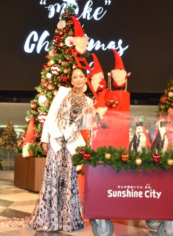 "『Sunshine City ""Make"" a Christmas wish』の点灯式に参加した中島美嘉 (C)ORICON NewS inc."