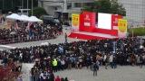 群馬県庁前で行われたニューイヤー駅伝シーンには約7000人のエキストラが参加した(C)TBS