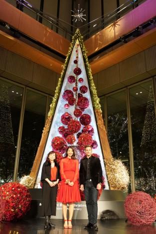 サムネイル 『Marunouchi Bright Christmas2017−BloomingAnniversary〜花で彩るクリスマス〜−』ツリー点灯式の模様