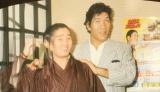 オフィシャルブログを開設した天龍源一郎(左)が公開したジャイアント馬場さんとの写真
