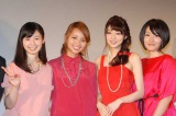 女性同士の濃厚ラブシーンや激しいアクションに挑んだ女優陣(左から)小池里奈、水崎綾女、芳賀優里亜、多田あさみ (C)ORICON NewS inc.