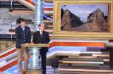 11月14日放送、MBS・TBS系『教えてもらう前と後』第3回のテーマは「緊急企画・いま北朝鮮があぶない」(左から)博多大吉、コリアレポート編集長の辺真一氏(C)MBS