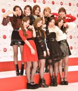 TTポーズをするTWICE (C)ORICON NewS inc.