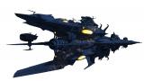 アニメ『宇宙戦艦ヤマト2202 愛の戦士たち』第四章「天命篇」。ガトランティスで建造されたデスラー専用艦ノイ・デウスーラ(C)西�ア義展/宇宙戦艦ヤマト2202製作委員会