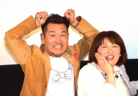 『ミッキーマウス バースデイ映画祭2017』に参加した(左から)FUJIWARAの藤本敏史、森三中の黒沢かずこ (C)ORICON NewS inc.
