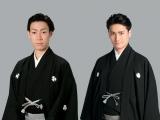 新作歌舞伎『NARUTO -ナルト-』うずまきナルト役に坂東巳之助(左)、うちはサスケ役に中村隼人(右)、2018年8月上演
