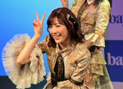 ラストシングル「11月のアンクレット」などを歌った渡辺麻友= 『bayfm MEETS AKB48 12th stage〜君がしてくれたこと〜』公開録音(C)ORICON NewS inc.