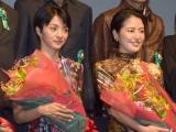 第9回TAMA映画賞の授賞式に参加した(左から)満島ひかり、長澤まさみ (C)ORICON NewS inc.
