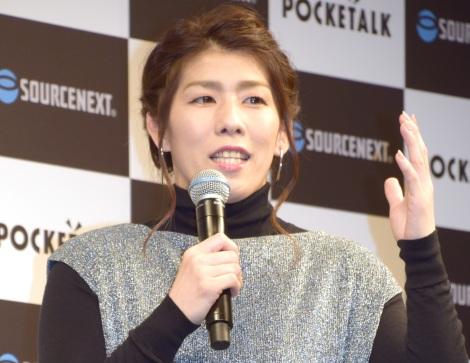 『ソースネクスト』の新商品発表会に出席した吉田沙保里 (C)ORICON NewS inc.