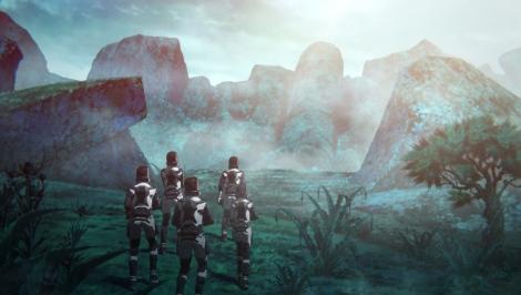 アニメーション映画『GODZILLA 怪獣惑星』地球に帰還すると2万年が経っていた…(C)2017 TOHO CO., LTD.