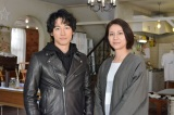 日本テレビ系連続ドラマ『今からあなたを脅迫します』に出演するディーン・フジオカと松下奈緒 (C)日本テレビ