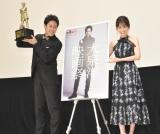 『大泉洋映画祭』の舞台あいさつに出席した(左から)大泉洋、前田敦子 (C)ORICON NewS inc.