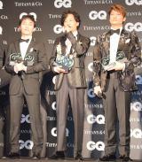 『GQ MEN OF THE YEAR』を受賞した(左から)草なぎ剛、稲垣吾郎、香取慎吾 (C)ORICON NewS inc.