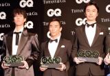 『GQ MEN OF THE YEAR 2017』を受賞した(左から)野田洋次郎、佐藤琢磨、長谷川博己 (C)ORICON NewS inc.