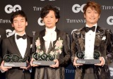 『GQ MEN OF THE YEAR 2017』を受賞した(左から)草なぎ剛、稲垣吾郎、香取慎吾 (C)ORICON NewS inc.