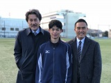 TBS系連続ドラマ『陸王』(毎週日曜 後9:00)に出演する(左から)役所広司、ゲストの菅谷哲也、市川右團次 (C)TBS
