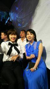 『マンハント』台湾プレミアに出席した(左から)ハ・ジウォン、桜庭ななみ