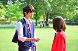 dTV×FODで配信中のドラマ『花にけだもの』第5話より。千隼(松尾太陽)と久実(中村ゆりか)(C)エイベックス通信放送/フジテレビジョン