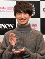 『第30回ジュノン・スーパーボーイ・コンテスト グランプリ』でグランプリに選ばれた綱啓永さん