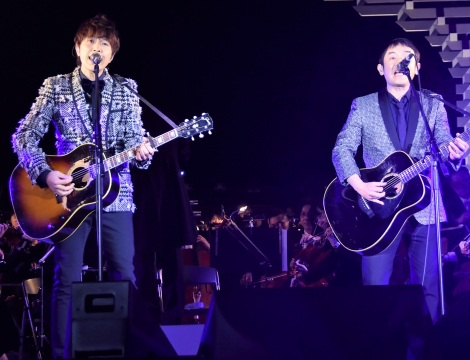 『東京2020参画プログラム 文化オリンピアードナイト』コンサートに出演したゆず(C)ORICON NewS inc.