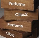 『Perfume Clips 2』通常盤の箱馬も展示